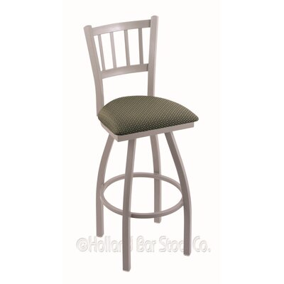 Contessa 36 Swivel Bar Stool Finish: Anodized Nickel, Upholstery: Axis Grove