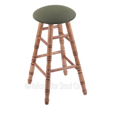 36 Swivel Bar Stool Finish: Medium Maple, Upholstery: Axis Grove