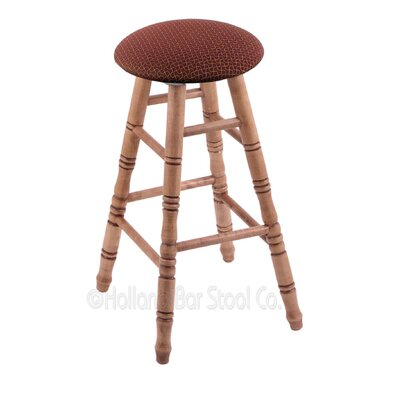24 Swivel Bar Stool Finish: Medium Maple, Upholstery: Axis Paprika