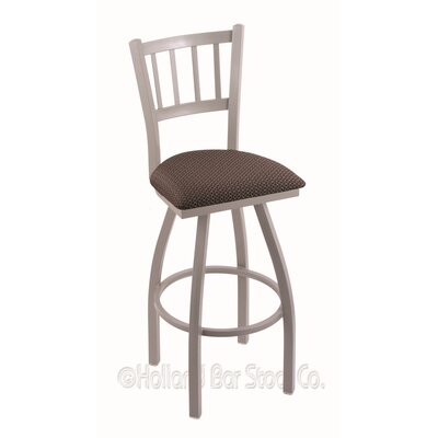Contessa 36 Swivel Bar Stool Finish: Anodized Nickel, Upholstery: Axis Truffle