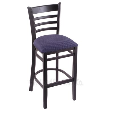30 Bar Stool Finish: Black, Upholstery: Axis Truffle