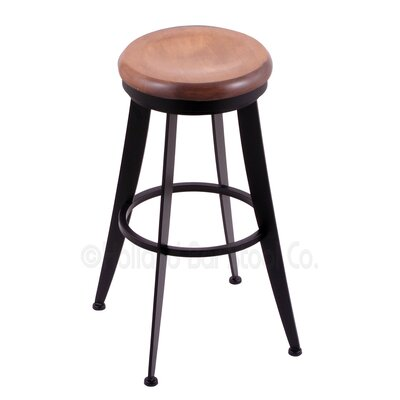 Laser 25 Swivel Bar Stool Upholstery: Medium Maple