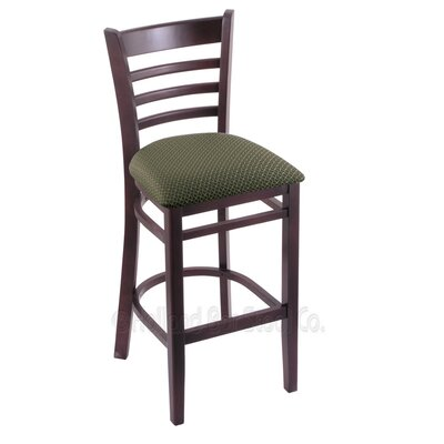 25 Bar Stool Upholstery: Axis Grove, Finish: Dark Cherry
