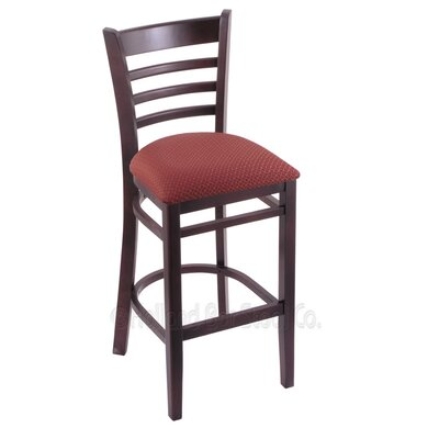 25 Bar Stool Upholstery: Axis Paprika, Finish: Dark Cherry