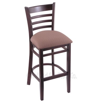 25 Bar Stool Upholstery: Axis Willow, Finish: Dark Cherry