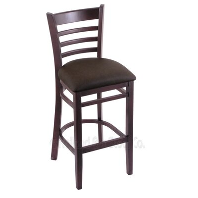30 Bar Stool Finish: Dark Cherry, Upholstery: Rein Coffee