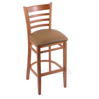 30 inch Bar Stool Upholstery: Allante Beechwood, Finish: Medium