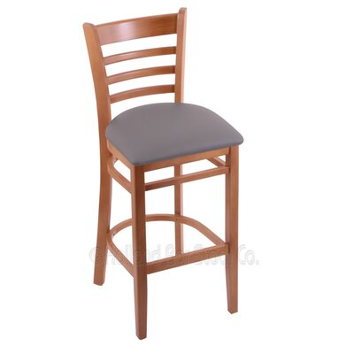 25 Bar Stool Finish: Medium, Upholstery: Allante Medium Grey