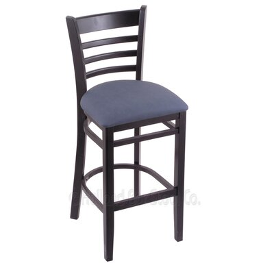 25 Bar Stool Finish: Black, Upholstery: Rein Bay