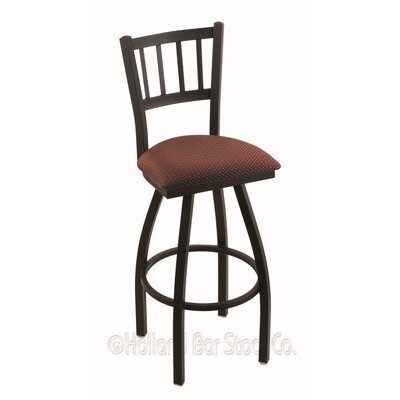 Contessa 36 Swivel Bar Stool Finish: Black Wrinkle, Upholstery: Axis Paprika