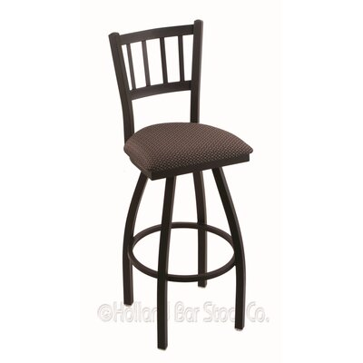Contessa 25 Swivel Bar Stool Finish: Black Wrinkle, Upholstery: Axis Truffle