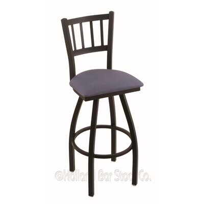 Contessa 36 Swivel Bar Stool Finish: Black Wrinkle, Upholstery: Rein Bay