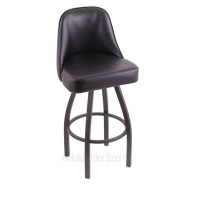 Grizzly 25 Swivel Bar Stool Base Finish: Pewter
