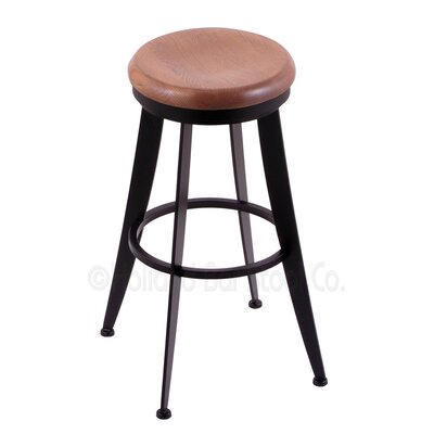 Laser 25 Swivel Bar Stool Upholstery: Medium Oak