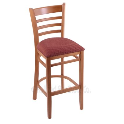 25 Bar Stool Finish: Medium, Upholstery: Axis Paprika