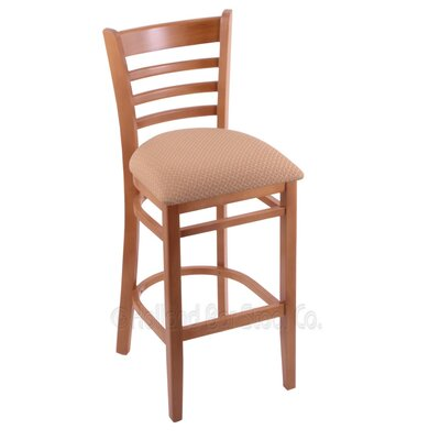 25 Bar Stool Upholstery: Axis Summer, Finish: Medium