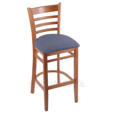 25 Bar Stool Finish: Medium, Upholstery: Rein Bay