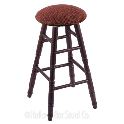 24 Swivel Bar Stool Finish: Dark Cherry Oak, Upholstery: Axis Paprika