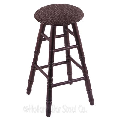 24 Swivel Bar Stool Finish: Dark Cherry Oak, Upholstery: Axis Truffle