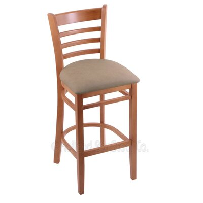 25 Bar Stool Finish: Medium, Upholstery: Rein Thatch