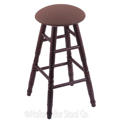 24 Swivel Bar Stool Finish: Dark Cherry Oak, Upholstery: Axis Willow