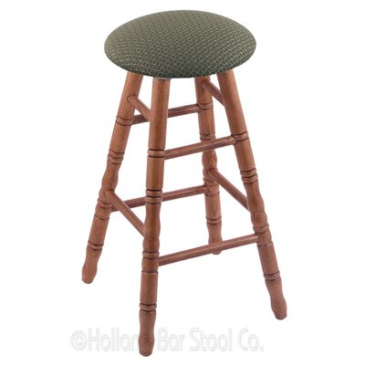 24 Swivel Bar Stool Upholstery: Axis Grove, Finish: Medium Oak