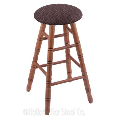 36 Swivel Bar Stool Finish: Medium Oak, Upholstery: Axis Truffle