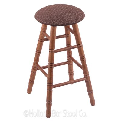 24 Swivel Bar Stool Finish: Medium Oak, Upholstery: Axis Willow