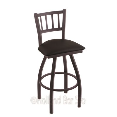 Contessa 30 Swivel Bar Stool Finish: Black Wrinkle, Upholstery: Black Vinyl