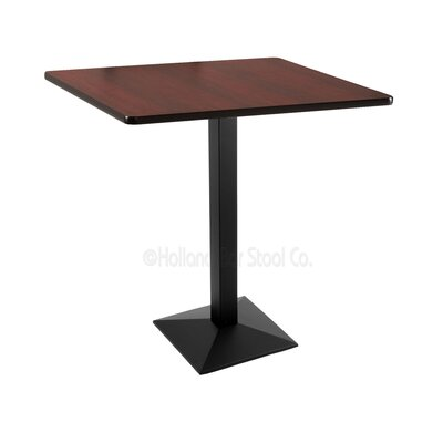 42 Pub Table Finish: Black, Tabletop Size: 36 x 36