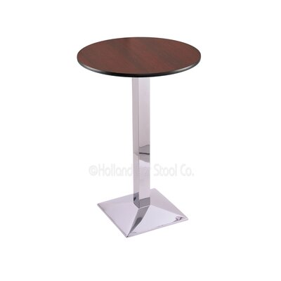 36 Pub Table Finish: Chrome, Tabletop Size: 24 Dia