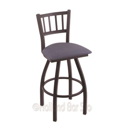 Contessa 25 Swivel Bar Stool Finish: Black Wrinkle, Upholstery: Rein Bay