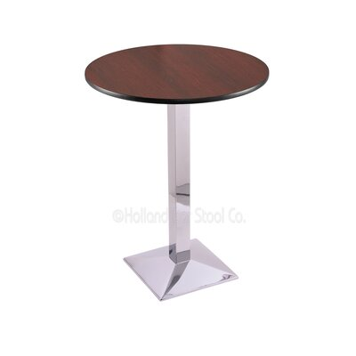 36 Pub Table Finish: Chrome, Tabletop Size: 30 Dia
