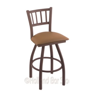 Contessa 30 Swivel Bar Stool Finish: Bronze, Upholstery: Allante Beechwood
