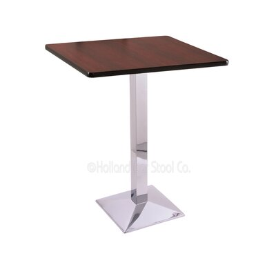 36 Pub Table Color: Chrome, Tabletop Size: 30 x 30