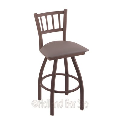 Contessa 30 Swivel Bar Stool Finish: Bronze, Upholstery: Allante Medium Grey