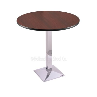 36 Pub Table Finish: Chrome, Tabletop Size: 36 Dia