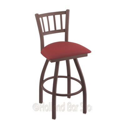 Contessa 25 Swivel Bar Stool Finish: Bronze, Upholstery: Allante Wine