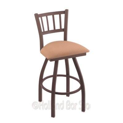 Contessa 25 Swivel Bar Stool Finish: Bronze, Upholstery: Axis Summer