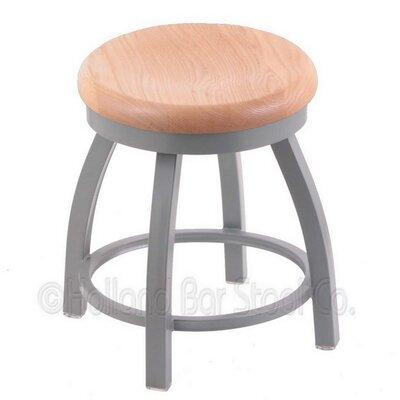 Holland Bar Stool Misha Swivel Vanity Stool - Seat Finish: Natural Oak, Base Finish: Anodized Nickel