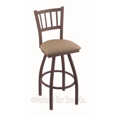 Contessa 36 Swivel Bar Stool Finish: Bronze, Upholstery: Rein Thatch