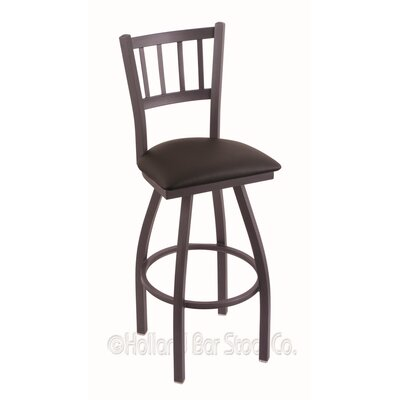 Contessa 36 Swivel Bar Stool Finish: Pewter, Upholstery: Allante Espresso