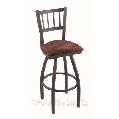 Contessa 36 Swivel Bar Stool Finish: Pewter, Upholstery: Axis Paprika