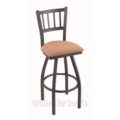 Contessa 36 Swivel Bar Stool Finish: Pewter, Upholstery: Axis Summer