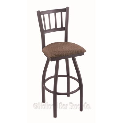 Contessa 30 Swivel Bar Stool Finish: Pewter, Upholstery: Axis Willow