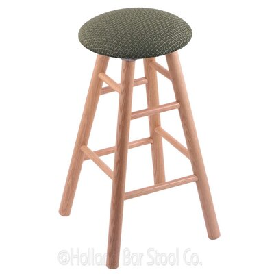 24 Swivel Bar Stool Finish: Natural Oak, Upholstery: Axis Grove