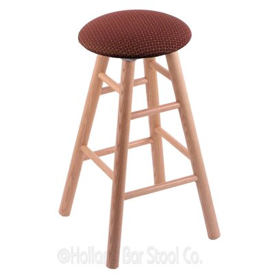 24 Swivel Bar Stool Finish: Natural Oak, Upholstery: Axis Paprika