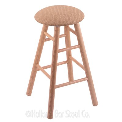 24 Swivel Bar Stool Finish: Natural Oak, Upholstery: Axis Summer