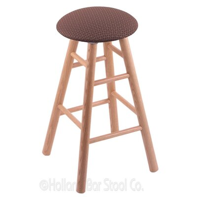 36 Swivel Bar Stool Finish: Natural Oak, Upholstery: Axis Willow