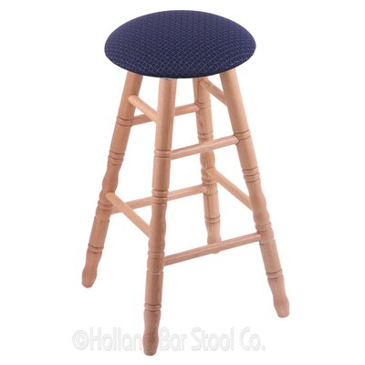 36 Swivel Bar Stool Finish: Natural Oak, Upholstery: Axis Denim